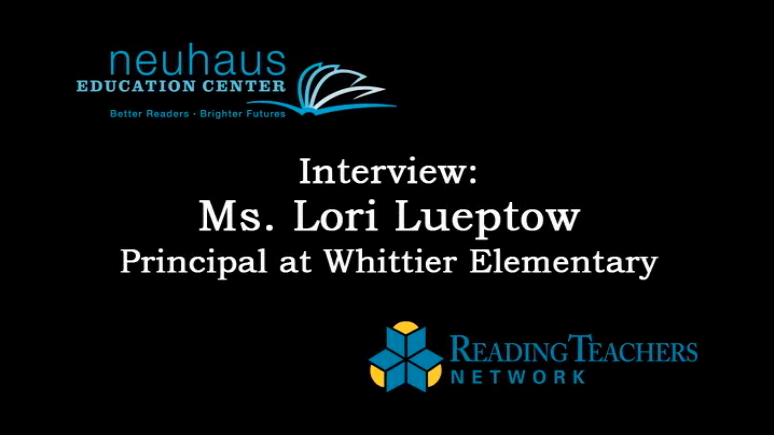 Interview with Lori Lueptow, Principal