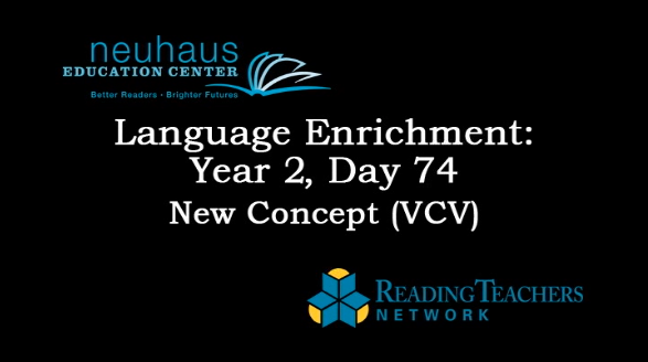 LE Year 2, Day 074 - New Concept 2.94 V|CV Syllable Division