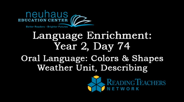 LE Year 2, Day 074 - Oral Language - Describing - Weather Unit