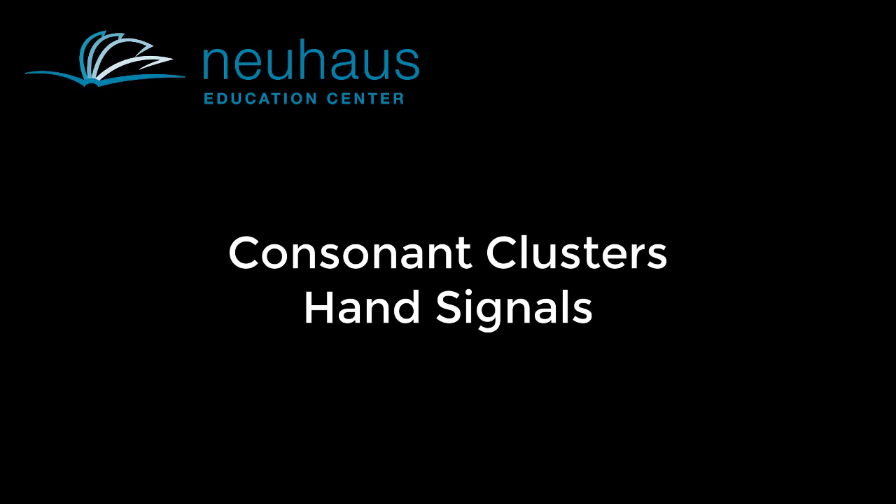 Hand Signals - Consonant Clusters