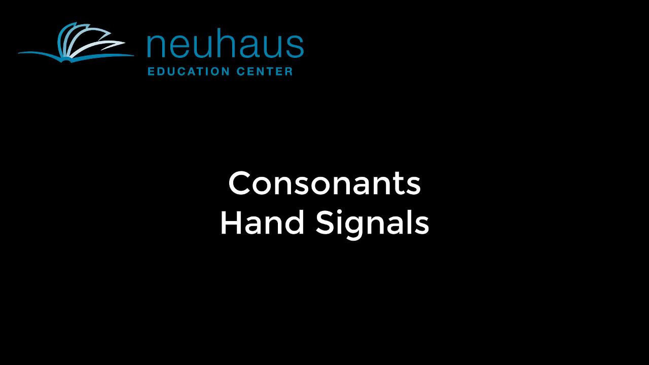 Hand Signals - Consonants