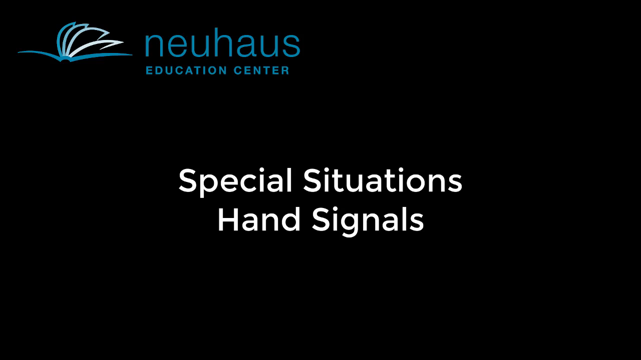 Hand Signals - Special Situations
