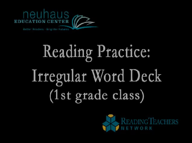 Irregular Word Deck