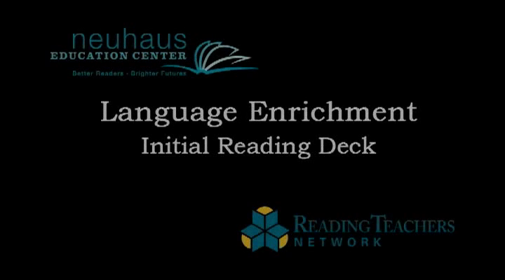 LE Initial Reading Deck, end of Year 1