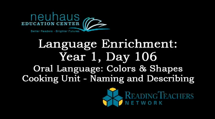 LE Year 1, Day 106 - Oral Language - Naming and Describing - Cooking Unit