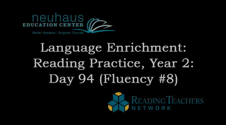 LE Year 2, Day 094 - Fluency Practice - Reading for Accuracy