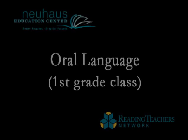 Oral Language First Grade