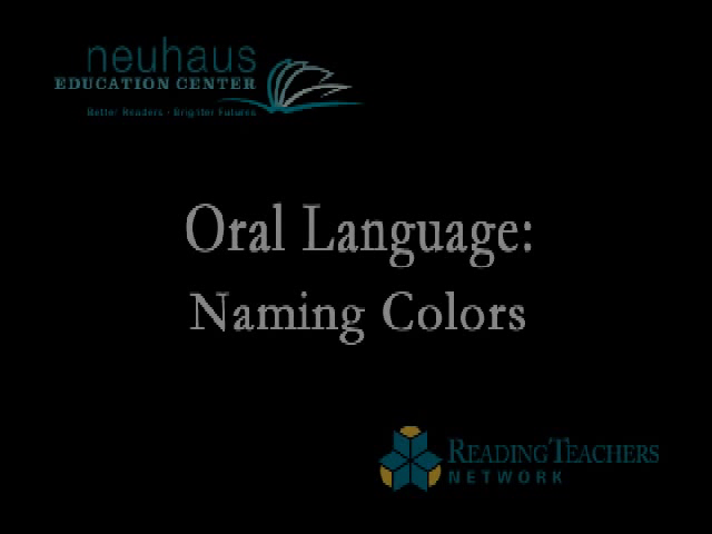 Oral Language - Naming Colors Activity