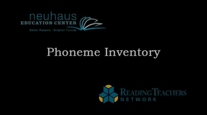 Phoneme Inventory