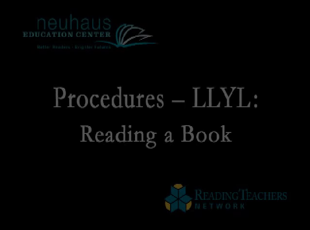 Procedures for Reading a Book Aloud