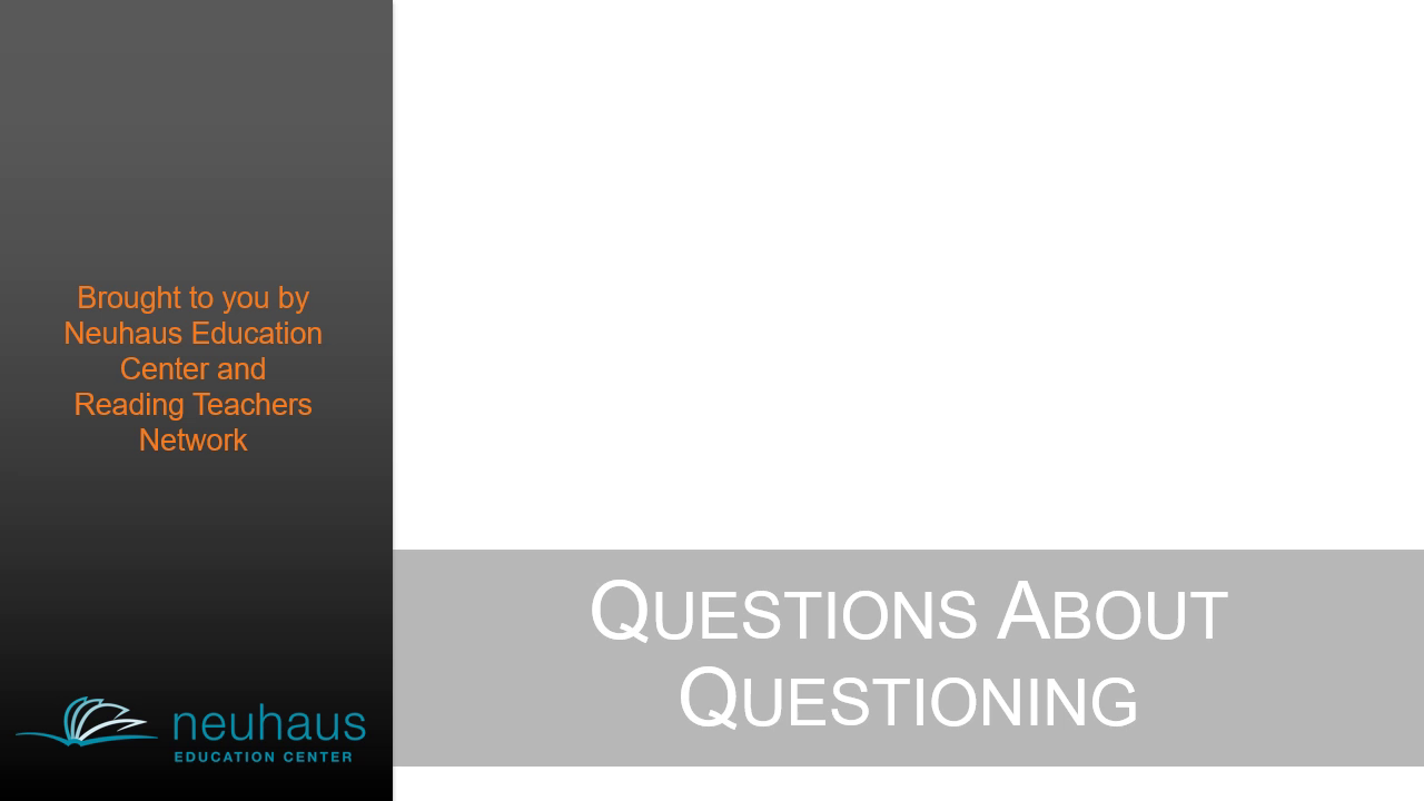 Questions About Questioning - Narrated
