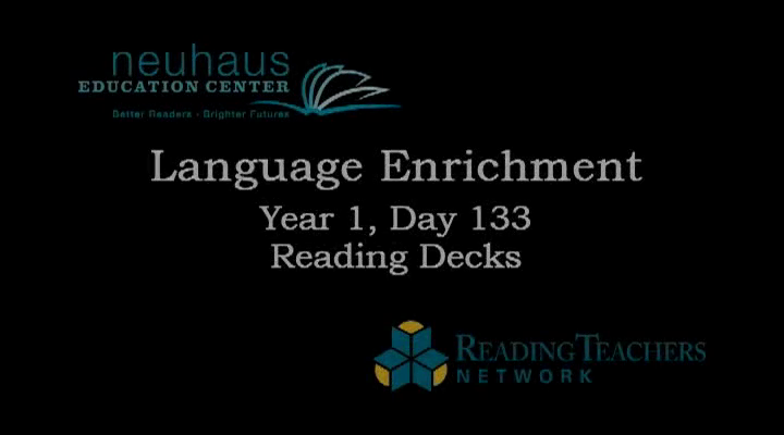 Reading Deck LE Year 1 (to day 133)