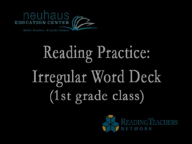 Reading Practice - Irregular Word Deck