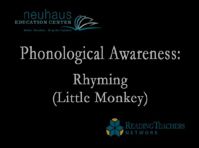 Rhyming - I'm a Little Monkey