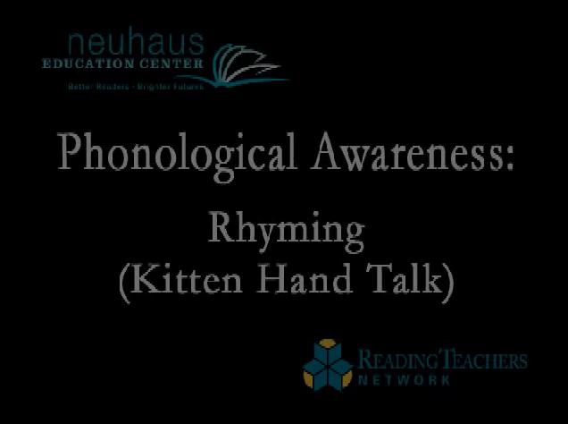 Rhyming - Kitten Hand Talk