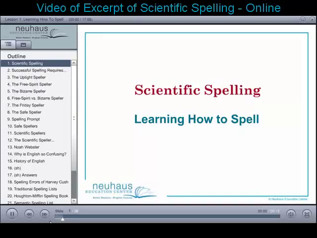 Scientific Spelling Excerpt