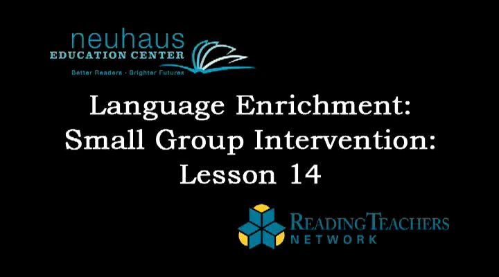 Small Group Intervention - Phonological Awareness