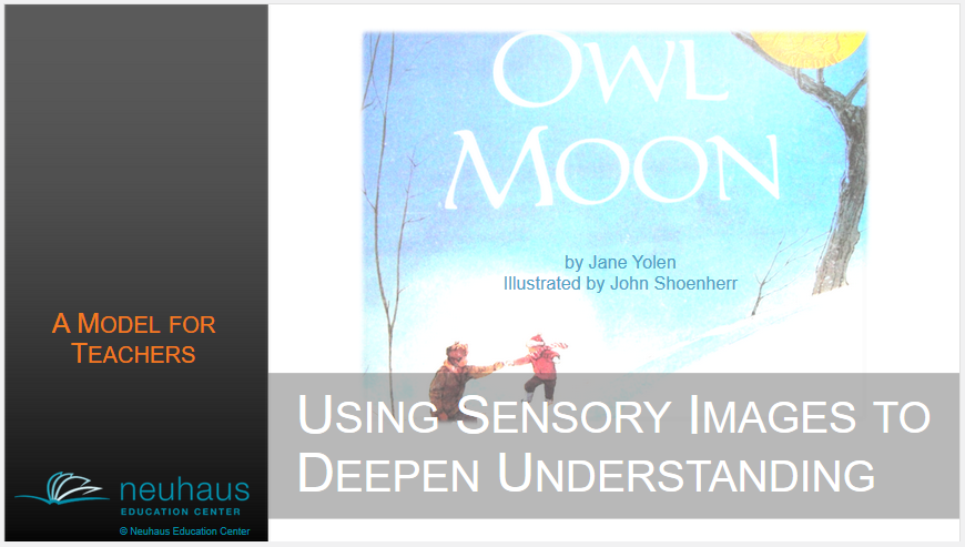 Create Sensory Images as You Read