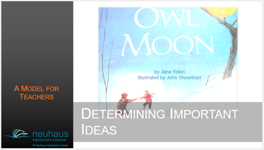 Determine Important Ideas as You Read