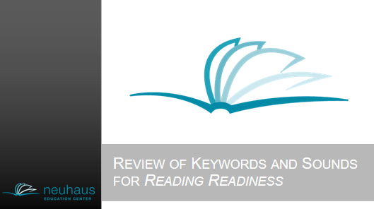 Keywords and Sounds for Reading Readiness