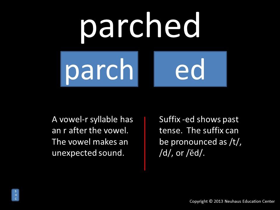 parched - pronunciation