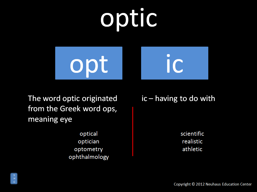 optic - meaning