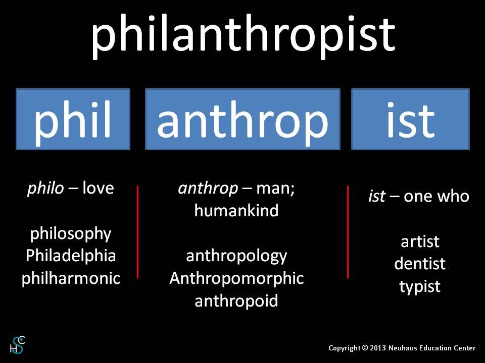 philanthropist - meaning