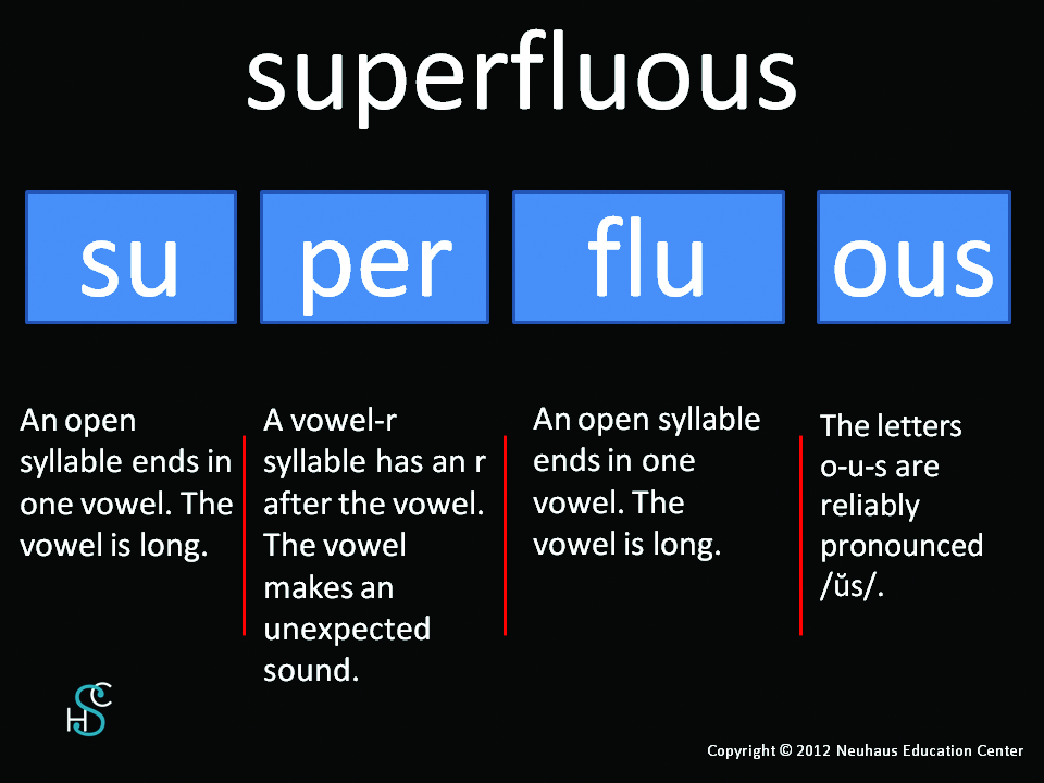 superfluous - pronunciation