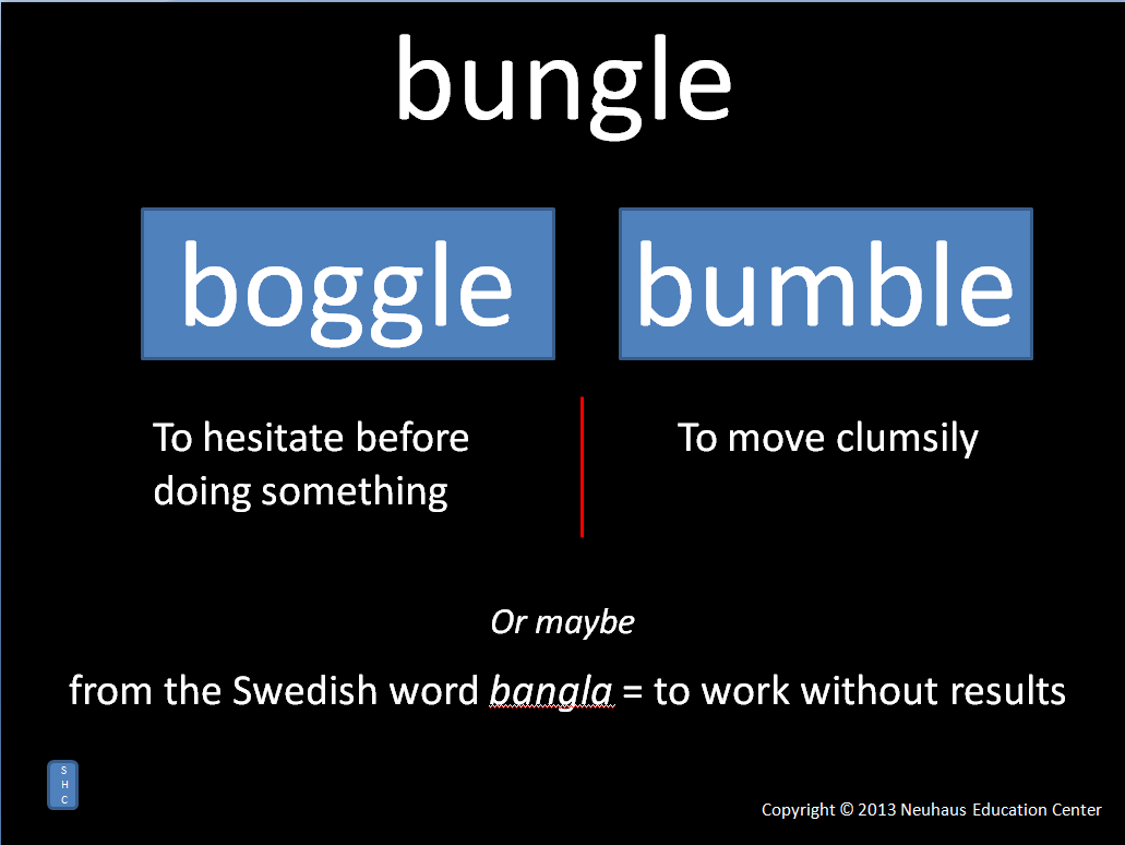 bungle - meaning