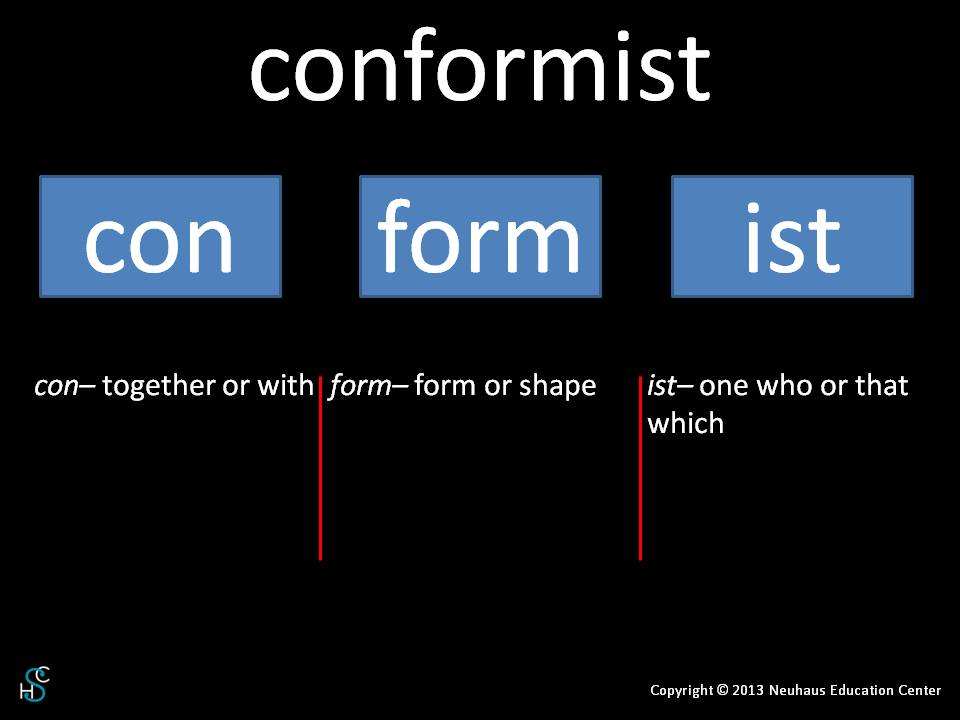 conformist - meaning
