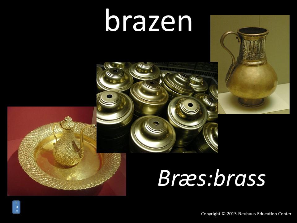 brazen - meaning