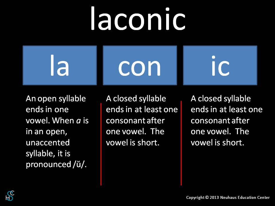 laconic - pronunciation