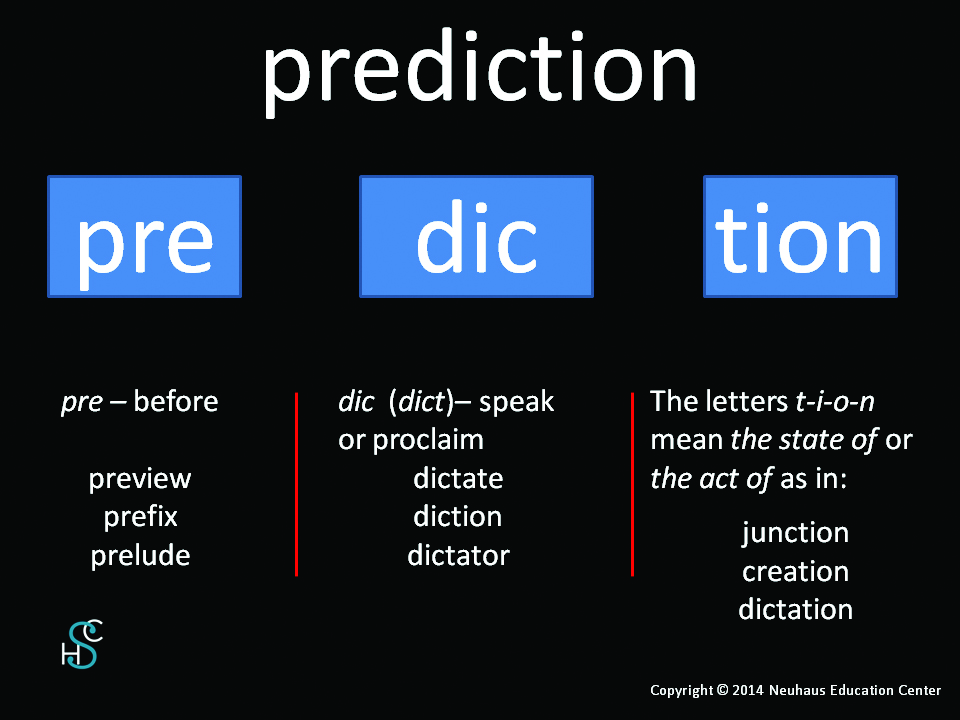 prediction - meaning