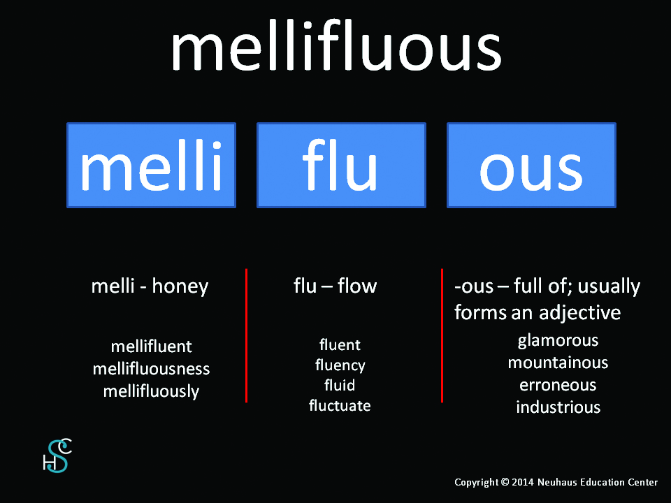 mellifluous - meaning