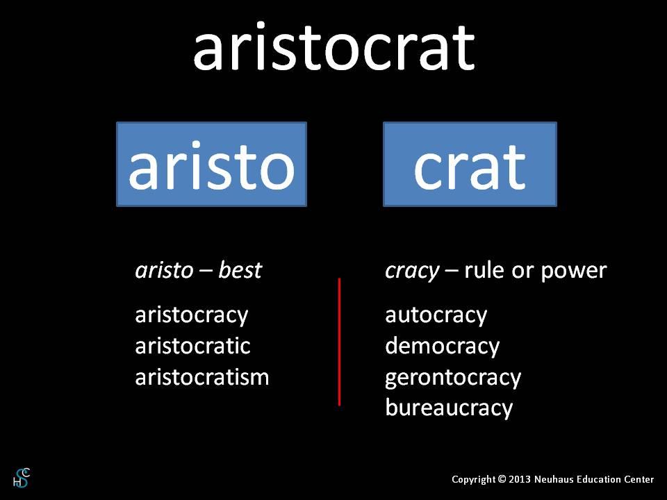 aristocrat - meaning