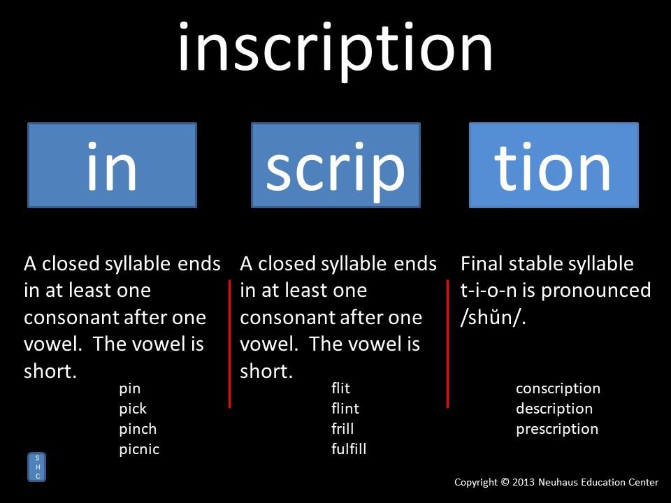 inscription - pronunciation