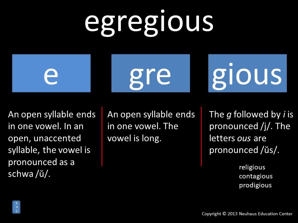 egregious - pronunciation