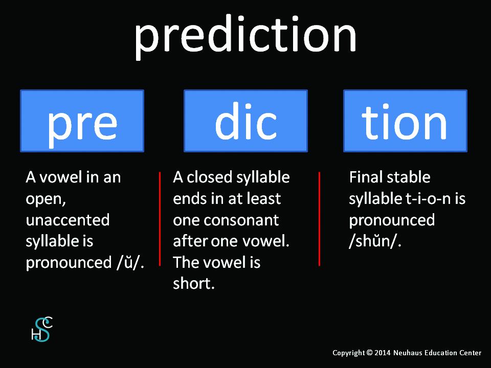 prediction - pronunciation