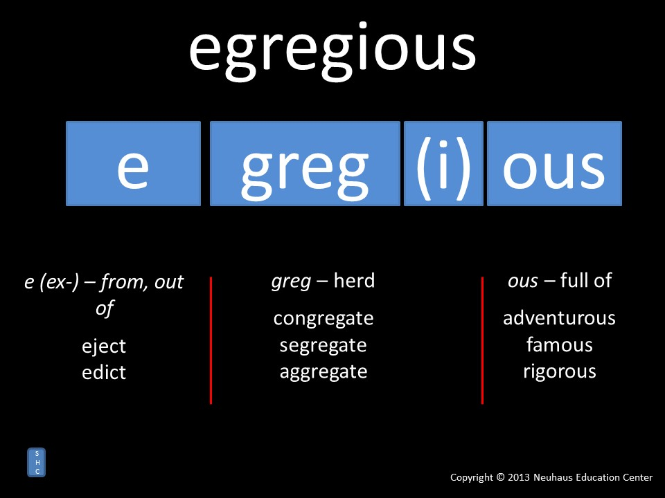egregious - meaning
