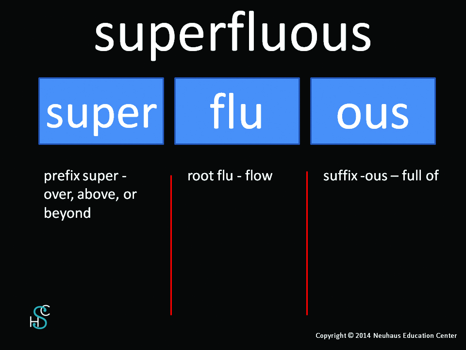 superfluous - meaning