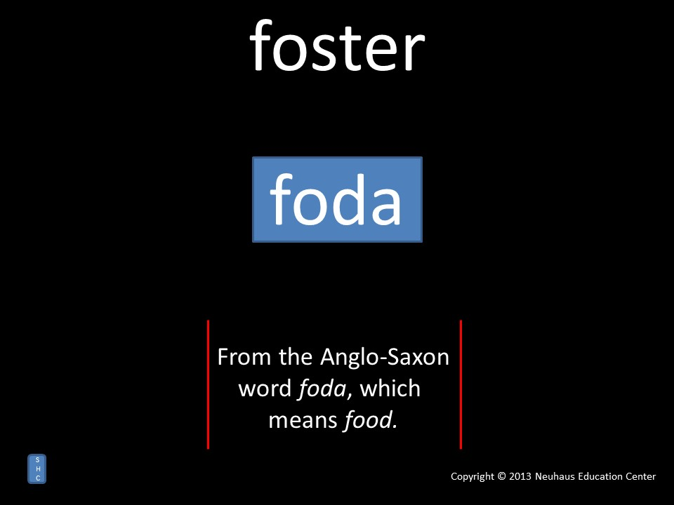 foster - meaning