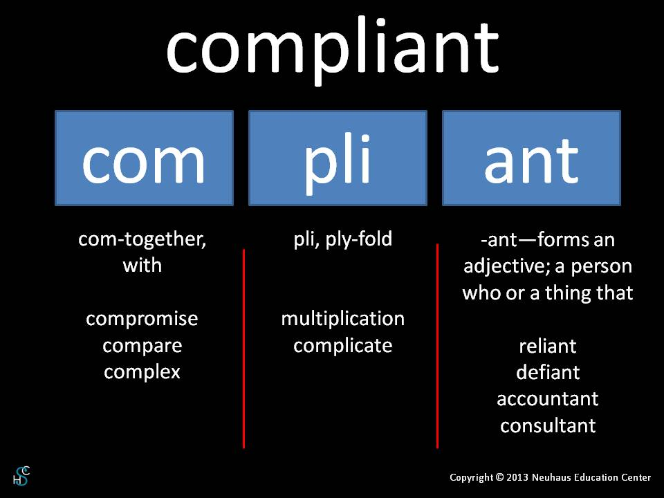 compliant - meaning