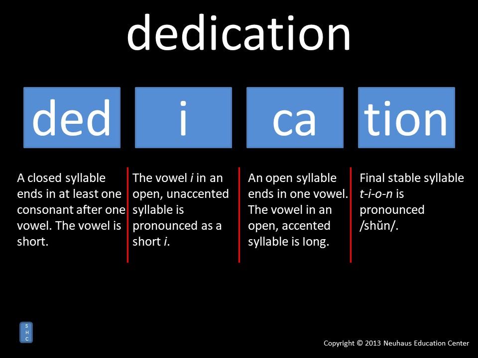 dedication - pronunciation