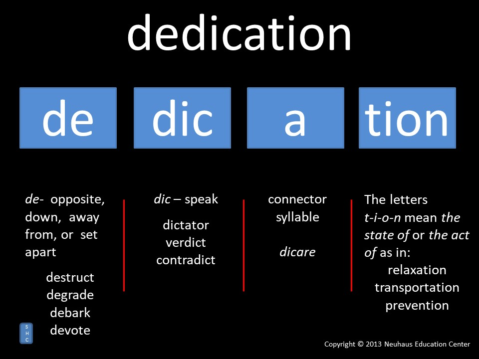dedication - meaning