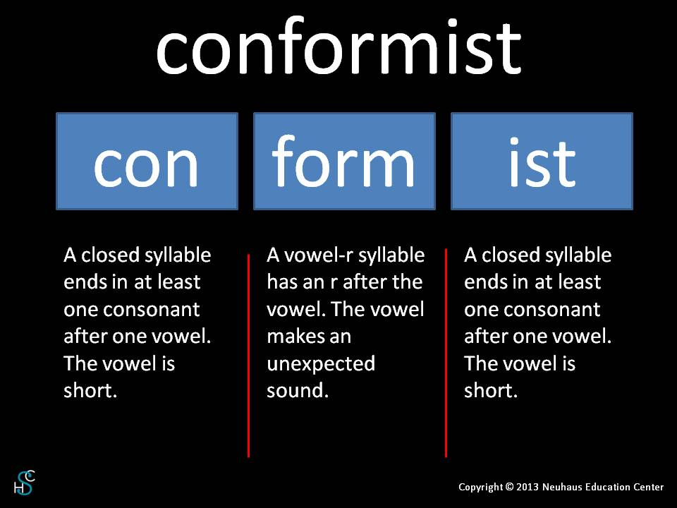 conformist - pronunciation