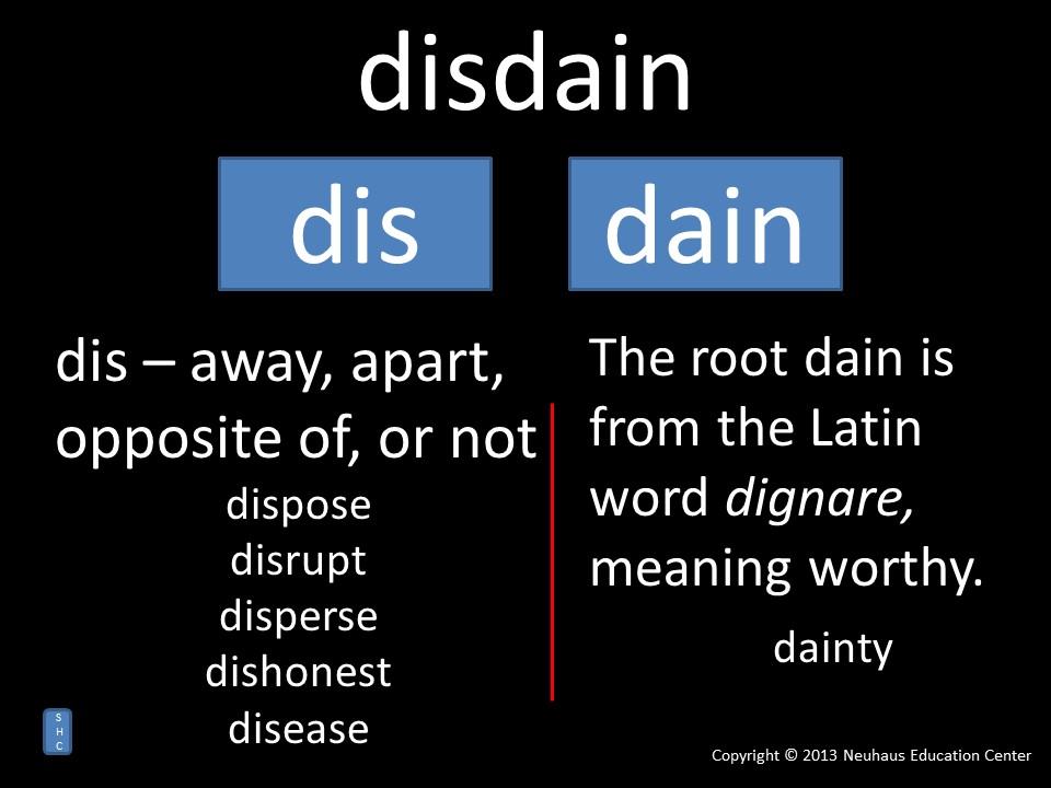disdain - meaning