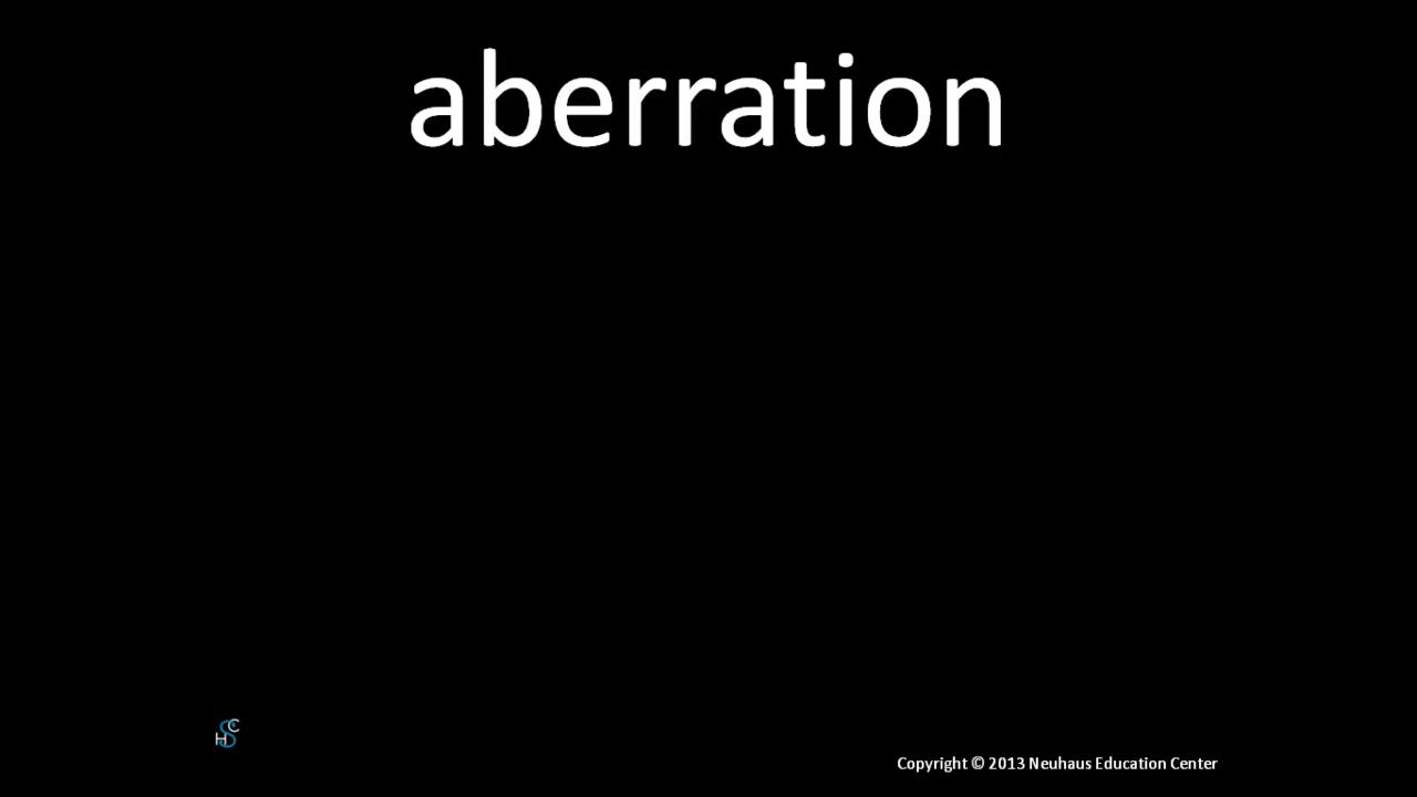 aberration - pronunciation