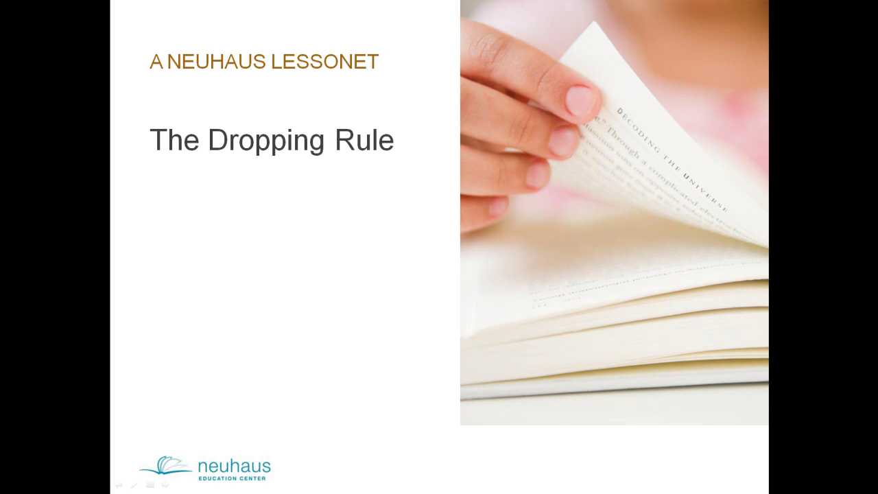 The Dropping Rule