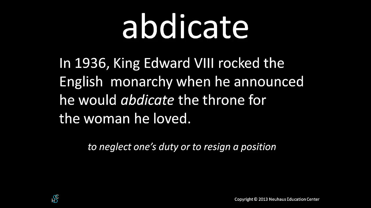 abdicate - meaning