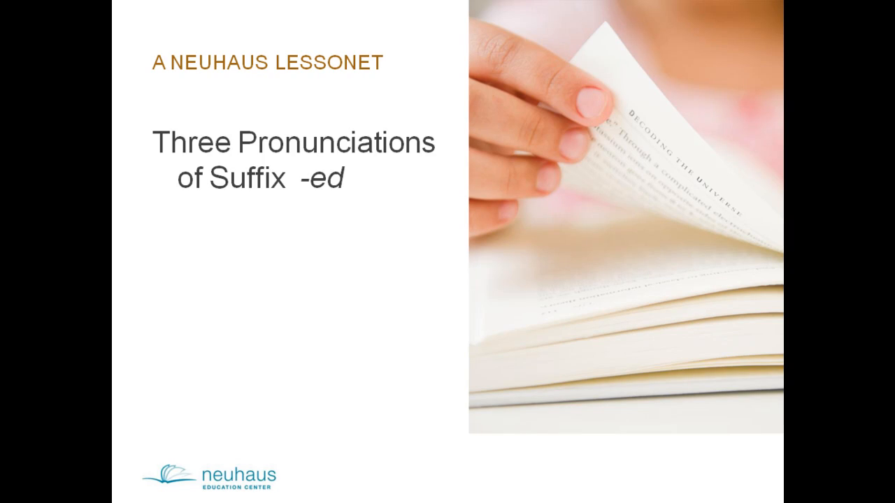 Three Pronunciations for Suffix -ed